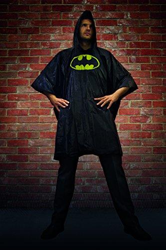 Batman Begins Kostüm - DC Comics pp3634dc Batman Poncho, One Size