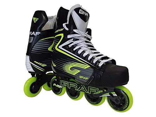Graf Maxx 10 Hockey Inliner Senior, Größe:8 = 42 = 26.6cm, Weite :E = wide Inline-hockey-skates 10