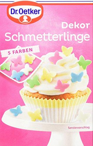 Dr. Oetker Dekor Schmetterlinge, 8er Pack (8 x 60 g) (Kuchen Streusel-schmetterling)
