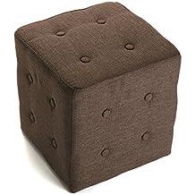 Versa - Taburete cubo marrón