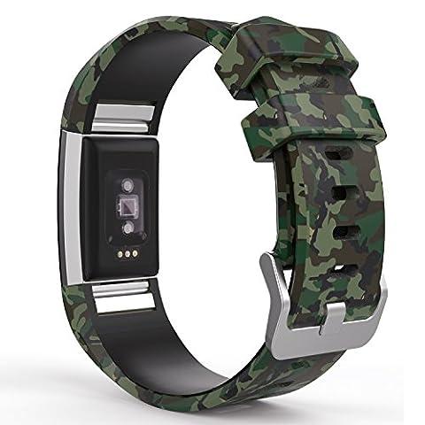 L Armee De Terre - Fitbit Charge 2 Bracelet, MoKo Watch Band