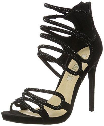 Buffalo Shoes Damen RK 1503-078-A Microfiber Knöchelriemchen, Schwarz (Black 01), 37 EU