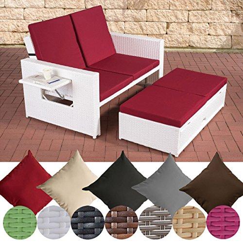 preisvergleich clp polyrattan 2er loungesofa ancona. Black Bedroom Furniture Sets. Home Design Ideas