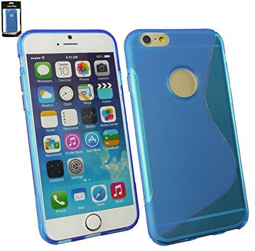 """Emartbuy® Eingabestift Pack Für Apple Iphone 6 6G 6S 4.7 """" Zoll LCD Displayschutz + Metallic Mini Rot Eingabestift + Glänzend Gel Hülle Schutzhülle Case Cover Rot Blau Ultra Slim Gel"""