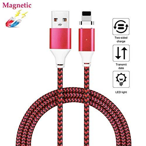 Superior Magnetischer Ladegerät-Adapter ZRL® Geflochtene LED-Anzeige Ladekabel für iPhone 5/5C/5S/SE/6/6 Plus/6er/6er plus/7/7 plus/8/8 Plus iPhone X/iPad Pro/Air3 Magnet Ladekabel (3,3ft/6,6ft/10ft) - 5s-geflochten-ladegerät Ft 10 Iphone