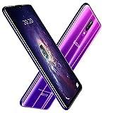 Moviles Libres 4G,6.26 Pulgadas 64GB+4GB RAM,4800mAh Bateria 12MP Camara Android 8.1 Face ID Dual Sim Smartphone Libres DUODUOGO S10 (Morado)