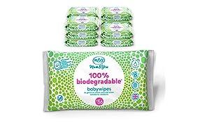Mum & You 100% Biologisch Abbaubare Feuchttücher für Babys, Packung mit 12, (Insgesamt 672 Tücher). 98% Wasser, 0% Kunststoff, Hypoallergen und Dermatologisch Getestet.