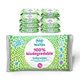 Mum & You 100% Biodegradable Vegan Registered Plastic Free Baby Wet Wipes, Pack of 12, (672 Wipes). 99.4% Water, 0% Plastic, Hypoallergenic & Dermatologically Tested.