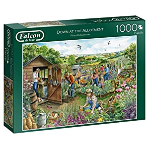 Jumbo Falcon de Luxe Down at The Allotment 1000 pcs Puzzle - Rompecabezas (Puzzle Rompecabezas, Gente, Adultos, Niño/niña, 12 año(s), Interior)