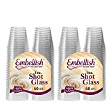 Embellir cristal en plastique rigide transparent verre à Shot jetables Transparent 30 ml 30 ml., Plastique, 100 Pcs by Embellish