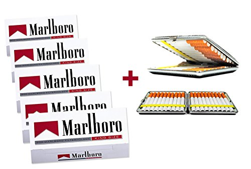 1.000 Marlboro Rot Filterhülsen + Wahlweise: Zigarettenbox oder Etui (Etui)