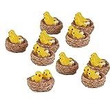 #2: Electomania® 10 pieces in 1 Set Toy Dollhouse Fairy Garden Landscape Yellow Bird Decor (Yellow)