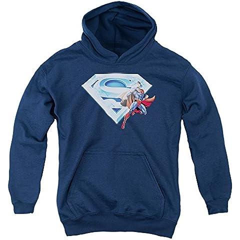 Superman - - Logotipo de la juventud y de cristal Sudadera con capucha