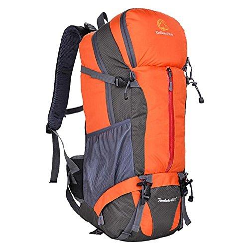 borsa a tracolla sacchetto di alpinismo esterno 40L grande capacità di escursione di campeggio di viaggio professionale , red Orange