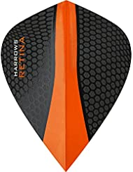 Darts Corner Harrows Retina 5jeux d'ailettes (15) – Extra résistantes - 100microns – En forme de cerf-volant – Orange