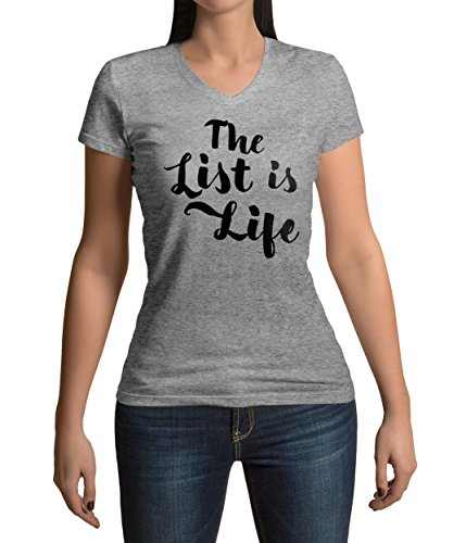 schindlers-list-inspired-the-list-is-life-quote-graphic-femme-v-neck-t-shirt-s