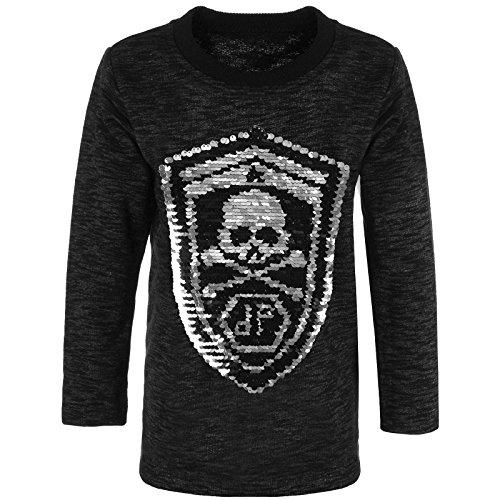 BEZLIT Jungen Sweatshirt Pullover Wende Pailletten Tiger 21499, Farbe:Schwarz, Größe:164