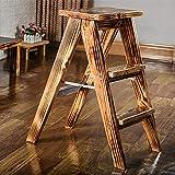 Step Stool Wooden- Échelle pliante en bois portative de tabourets d'escalier d'étape pour des enfants adultes, capacité 150kg Welcome (taille : # 3)