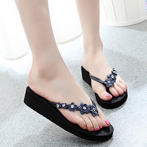 Pente avec sandales à talons hauts à bascule --- 3.5CM Chaussures à chaussures décontractées douces à la main et confortables 11 COULEURS --- Herringbone fashion sweet Sandals 1002