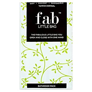 FabLittleBag Tampon Disposal Bag Bathroom Pack 20 per pack