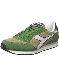 Diadora V7000 Nyl Ii - Zapatillas de Piel Sintética para hombre, color verde, talla 37
