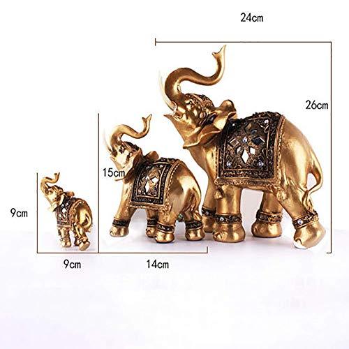 Figur Elegantes Heim Deko Vintage Miniatur Geschenk Figur Golden Elefant Statue Kunstharz Reichtum Desktop Dekoration Handwerk (S) - Als Bild Show, - Tv Show Figuren Kostüm