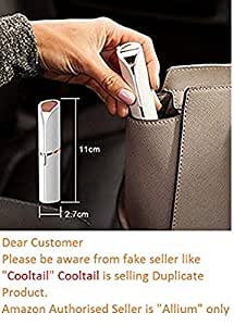 Allium Lipstick Shape Painless Electronic Facial Hair Remover Shaver For Women