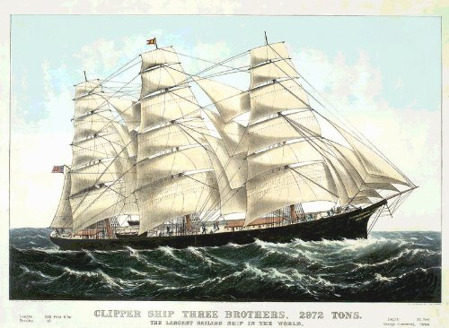 fantastic-a4-glossy-print-clipper-ship-three-brothers-2972-tons-a4-prints-vintage-transport-ads-flye