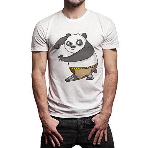 Kung-Fu-Panda-Funny-Art-In-Action-Layer-0.jpg Herren T-Shirt Weiß