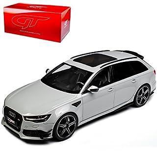alles-meine.de GmbH Audi A6 RS6 C7 ABT Performance Avant Kombi Nardo Grau Ab 2010 Nr 158 1/18 GT Spirit Modell Auto mit individiuellem Wunschkennzeichen