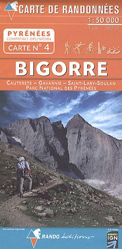 Carte de randonnées Pyrénées - Bigorre
