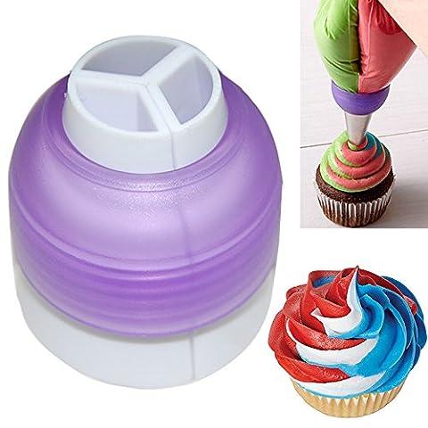 EQLEF® 3 Color Coupler Cake Tools Bakeware Cupcake Fondant Cookie Cutters Cream Decorating Bags Converter Cake