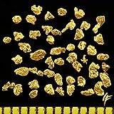 Véritable Nuggets d'or en Alaska de 1 mm avec Certificat d'authenticité Boîte de Monnaie élégante 0,5 à 10 g...