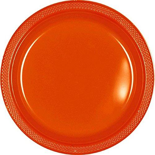 amscan-international-228cm-plastic-plate-orange