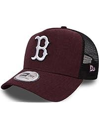 New Era Boston Red Sox Heather Trucker Snapback Baseball Cap Maroon Red
