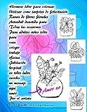 Hermoso libro para colorear Utilizar como tarjetas de felicitación Ramos de flores florales Actividad divertida para Todas las ocasiones Para adultos ... mensaje aquí amor Por el artista Grace Divine