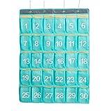 Sue-Supply Organizzatore Numerato Tabelle Tascabili per Aula Numerata con 4 Ganci in Metallo per Porta Cellulare Portaoggetti da Parete Organizer da Appendere