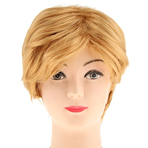 Trump Donald Kostüm Wig - Prettyia Mann Kurze Goldene Perücke Synthetische Blonde Cosplay Perücke Donald Trump Kostüm Stütze