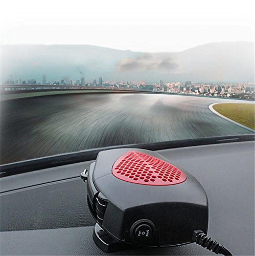 Preisvergleich Produktbild STEAM PANDA Heizung Defroster Portable Auto Heizung 12 V 150 Heizung schnell Auftaut Defogger Auto Keramik Heizung Lüfter mit Klappgriff,  rot