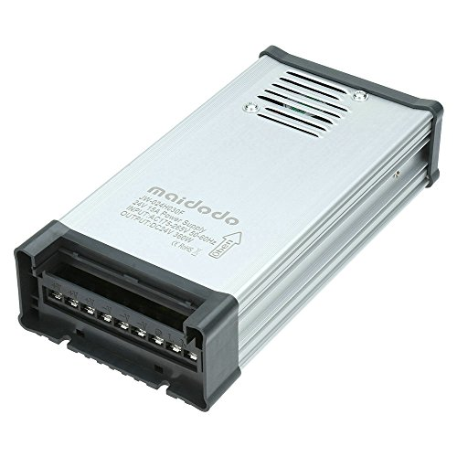 Maidodo LED Netzteil Trafo Schaltnetzteil DC 24V 15A 360W Transformator Treiber AC 175-265V IP53 Aluminium Netzgerät Adapter Für LED Streifen Stripe LED Band (Lampe 15a)