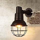 Oudan Vintage of The Iron Industry Lámpara de Pared Restaurante Bar Café Tienda Caf y Eacute; Corredor para la Amalgama Entre Las Operaciones de la lámpara de Pared (Color : -, tamaño : -)