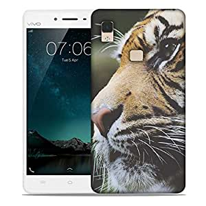Snoogg Tiger Designer Protective Back Case Cover For Vivo V3 Max