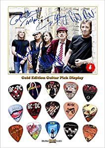 AC/DC New Gold Edition Gitarre Plektrum Display With 15 Gitarre Plektren