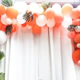 FEPITO 40 STÜCKE Künstliche Tropische Blätter Grüne Palme Monstera Blätter für Luau Hawaiian Party Dekorationen, Safari Dschungel Strand Tropical Party Dekorationen Liefert (2 Arten) - 4