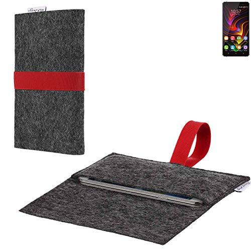 flat.design vegane Handy Hülle Aveiro für Oukitel C5 Pro passgenaue Filz Tasche Case Sleeve Made in Germany