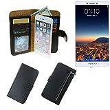 Portemonnaie Schutz Hülle für Oppo R7 Plus, schwarz aus
