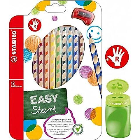 Dosenspitzer grün + EASYcolors rechts 12er-Etui