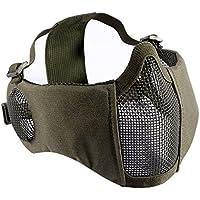OneTigris Airsoft faltbare halbe Maske Mesh Gesichtsmaske mit Gehörschutz