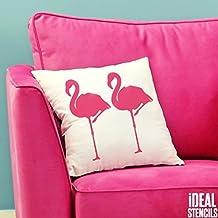 Flamingo Tropical plantilla. Pintura Paredes Telas & Muebles Flamenco Patrón Decoración Casa Arte Manualidades Ideal Stencils Ltd - semitransparente plantilla, XS/9X18CM