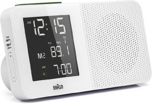 Braun BNC010BK-RC - Radio despertador con FM/AM y pantalla LCD con led